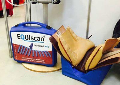 Pferderückenvermessung mit dem Equiscan